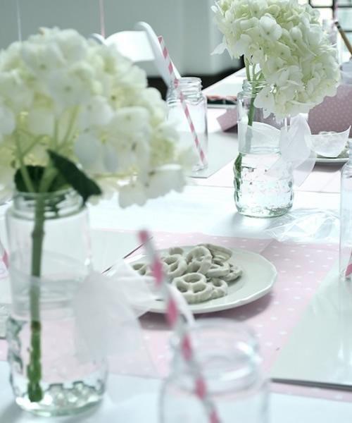 fiesta tematica bailarina4 Fiesta para niñas bailarinas en rosa y blanco