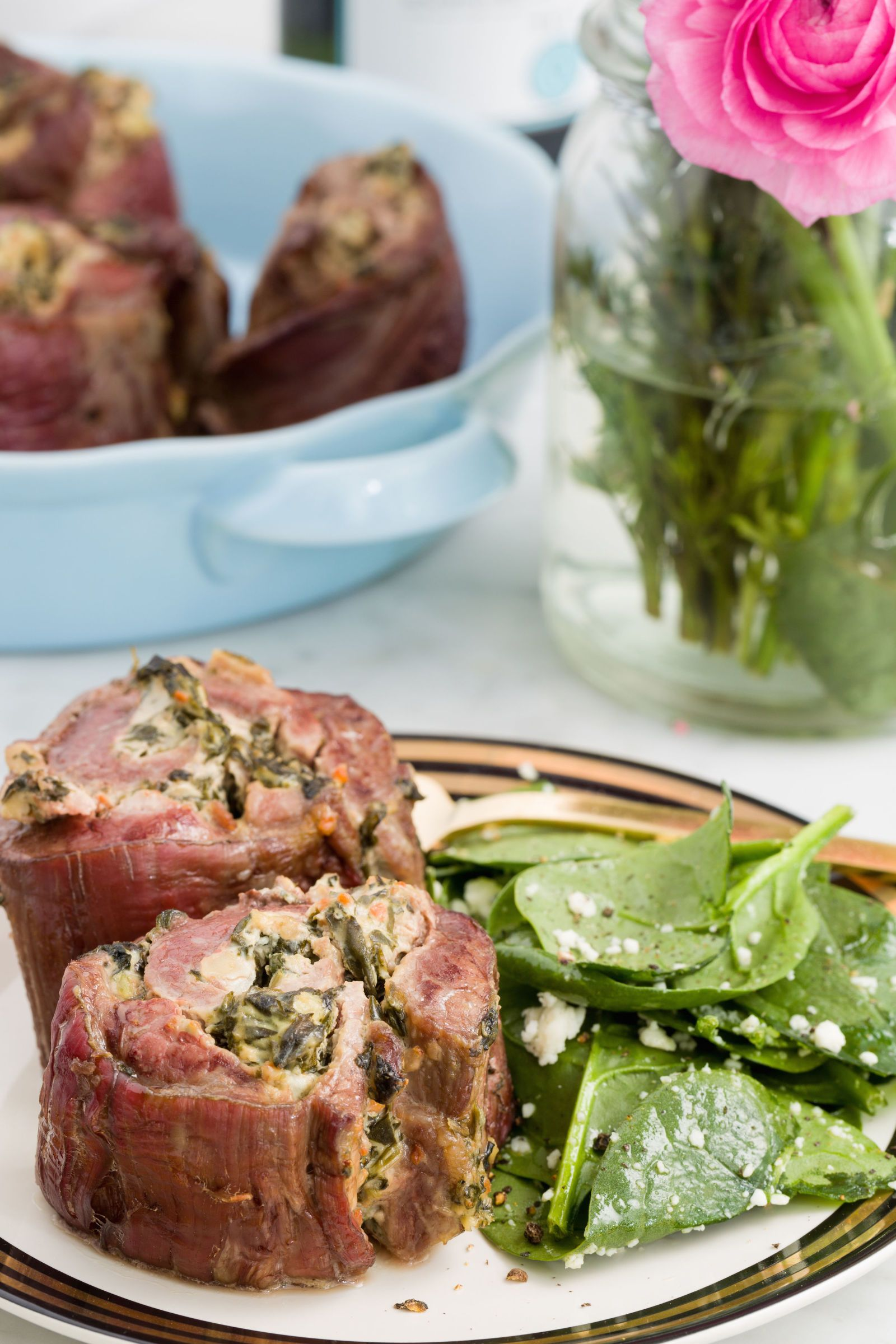 Exceptional Spinach And Artichoke Steak Roll Ups   Delish.com · Romantic Dinner For TwoRomantic  DinnersRomantic Dinner RecipesSteak ...