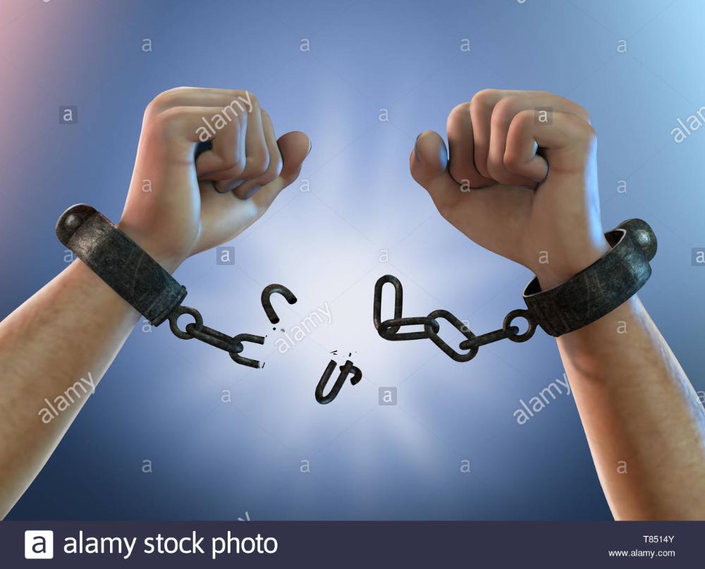Breaking Free A Man Breaking Chains Break Free Broken Chain Freedom
