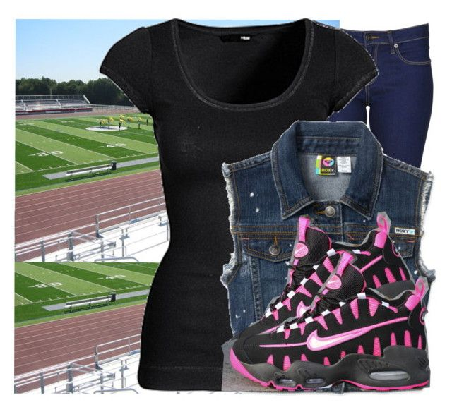 """What i wore to the Smith Football Game Last Night ."" by bunnyrabbit13 ❤ liked on Polyvore featuring Lee, H&M, NIKE, women's clothing, women, female, woman, misses and juniors"