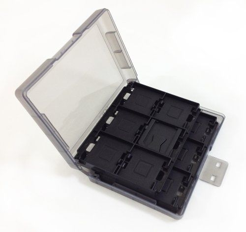 Amazon Com Nintendo 3ds Game Card Case 24 Black Video Games Ds