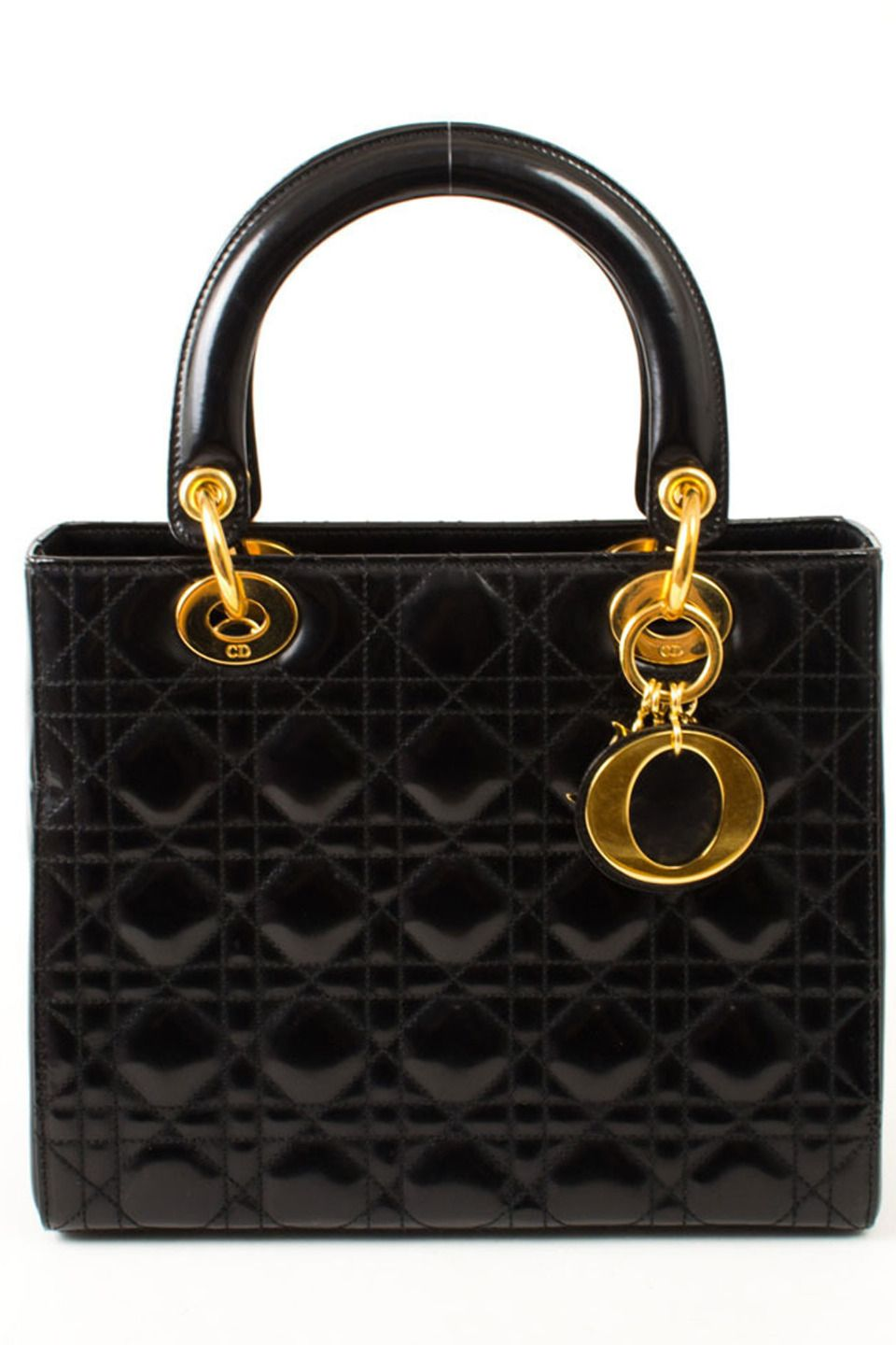 282392cee84 Dior Lady Dior Hand Bag In Black E - Beyond the Rack
