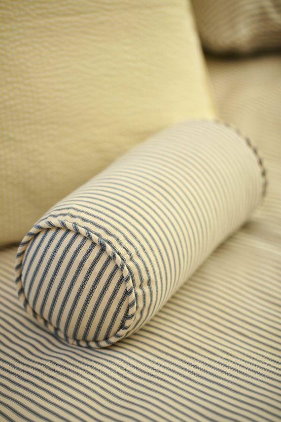 Ticking Stripe Or Seerer Bolster Pillow Tons Of Colors Available Modernfolk 37 00