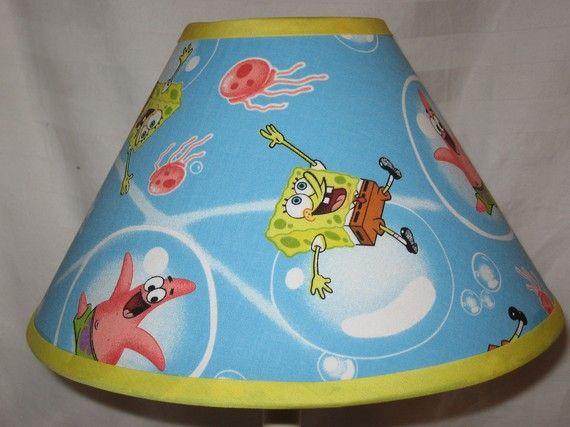 Spongebob handmade lamp shade creative pinterest spongebob spongebob handmade lamp shade aloadofball Choice Image