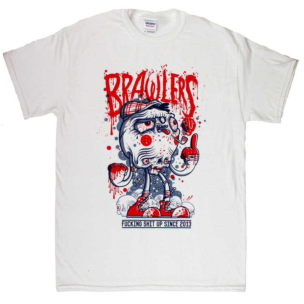 Awesome tees for Brawlers and designed by Drew Millward of course. Great band!