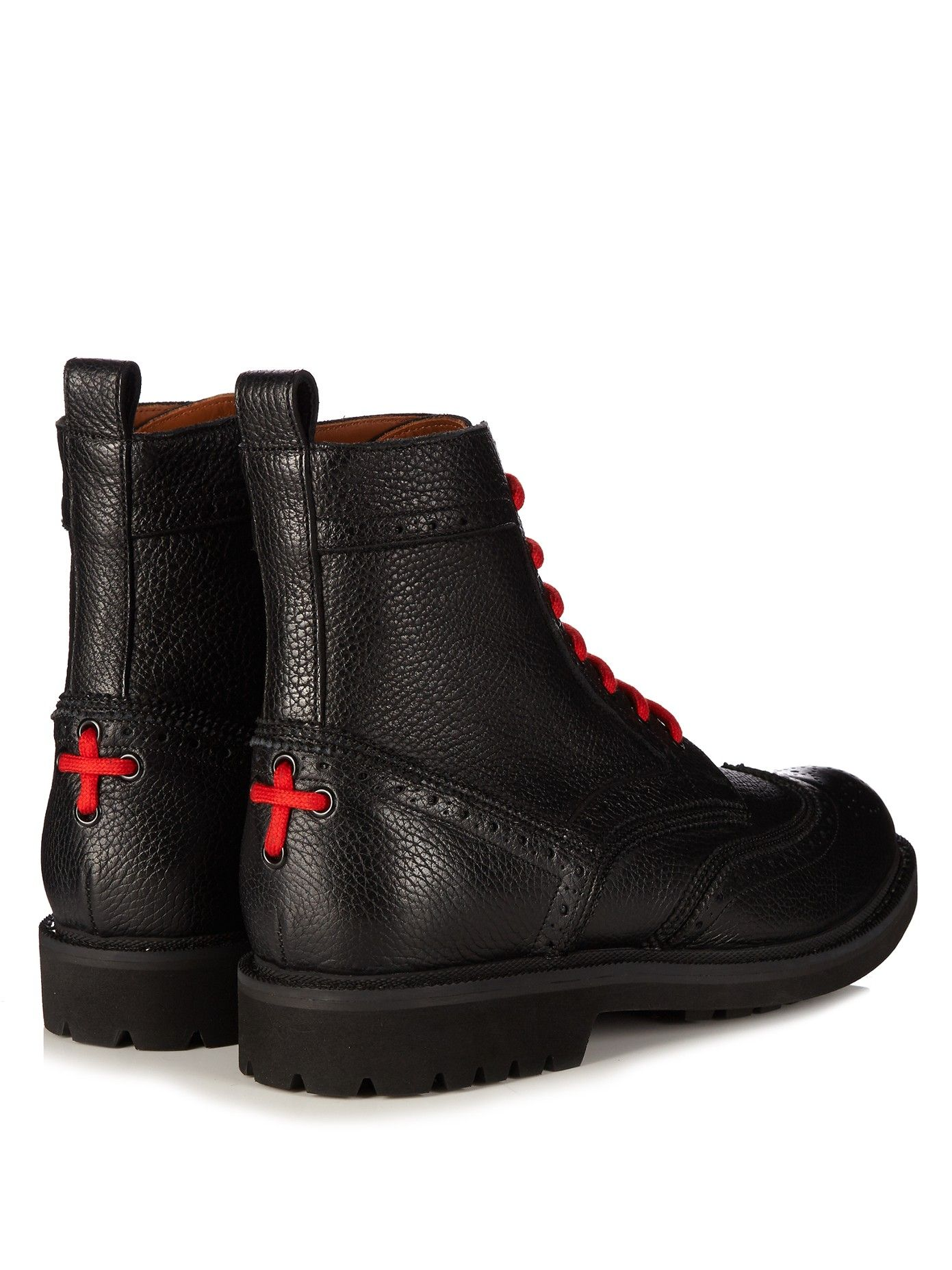 Commando leather ankle boots | Givenchy |