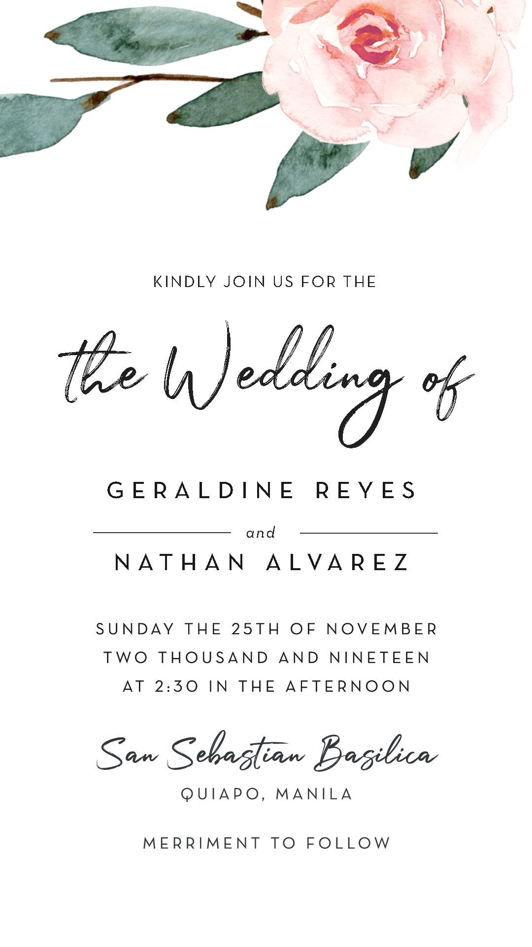 Logo Discover Minimalist Floral Save The Date Wedding Video Invitation In 2020 Wedding Invitation Video Wedding Invitation Card Design Electronic Wedding Invitations