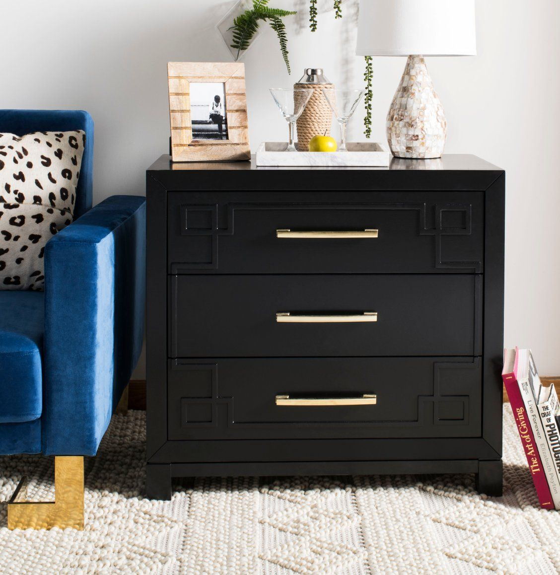 Inspired By Art Deco Style This Vibrant 3 Drawer Chest Makes A