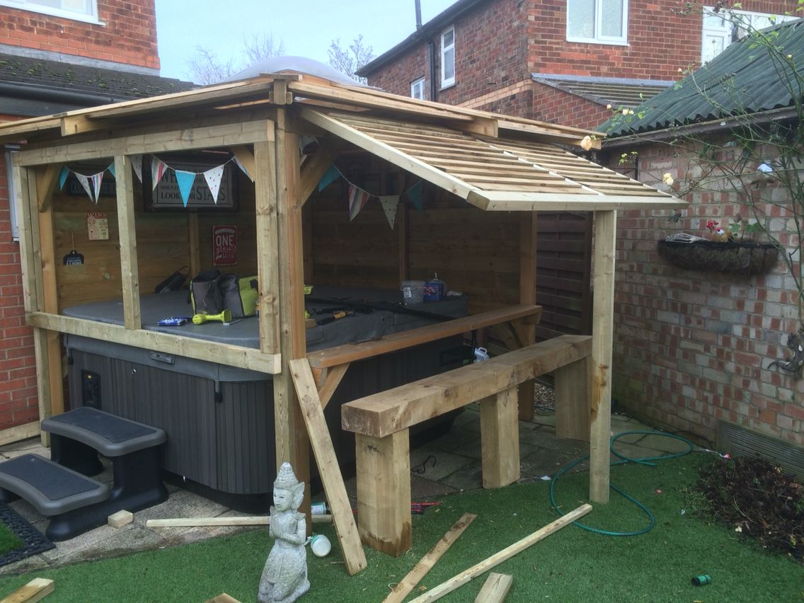 Alterations To Our Hot Tub Gazebo To Make It A Little More