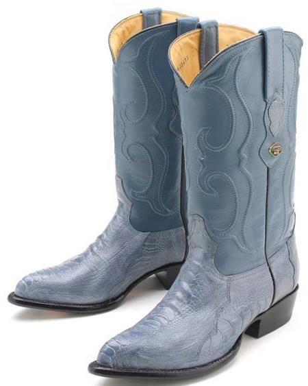 fe75563894b SKU#KA1089 Ostrich Leg Blue Jean Los Altos Mens Cowboy Boots Western ...