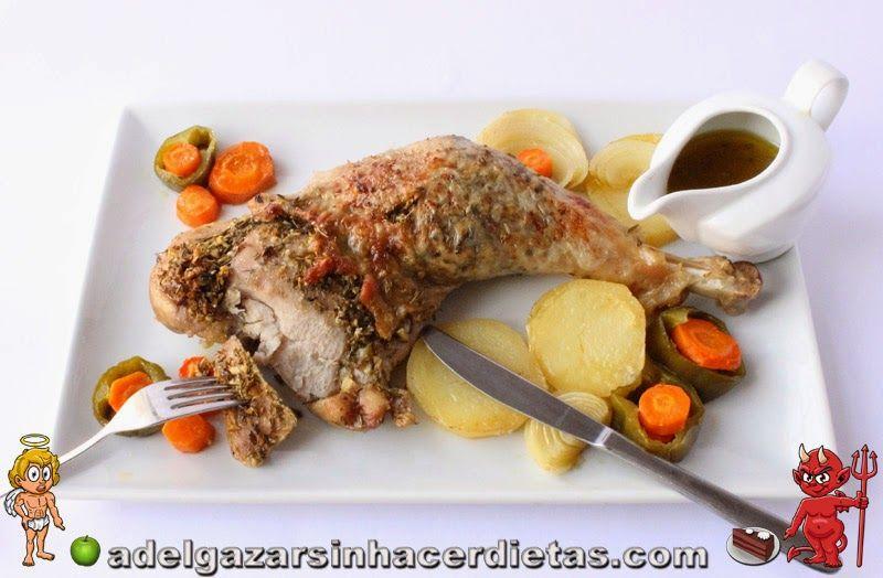 Con video receta saludable de pierna de pavo al horno - Ana cocina facil ...