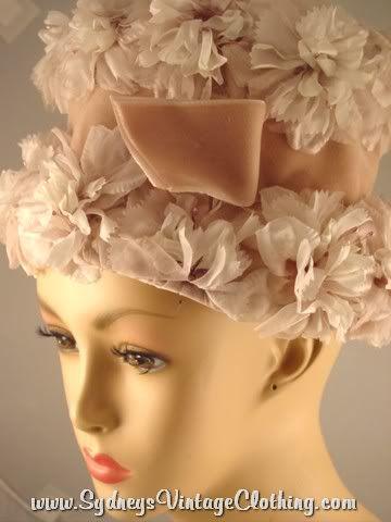 Vintage Hat 60's Floral Ladies SydneysVintageClothing.com