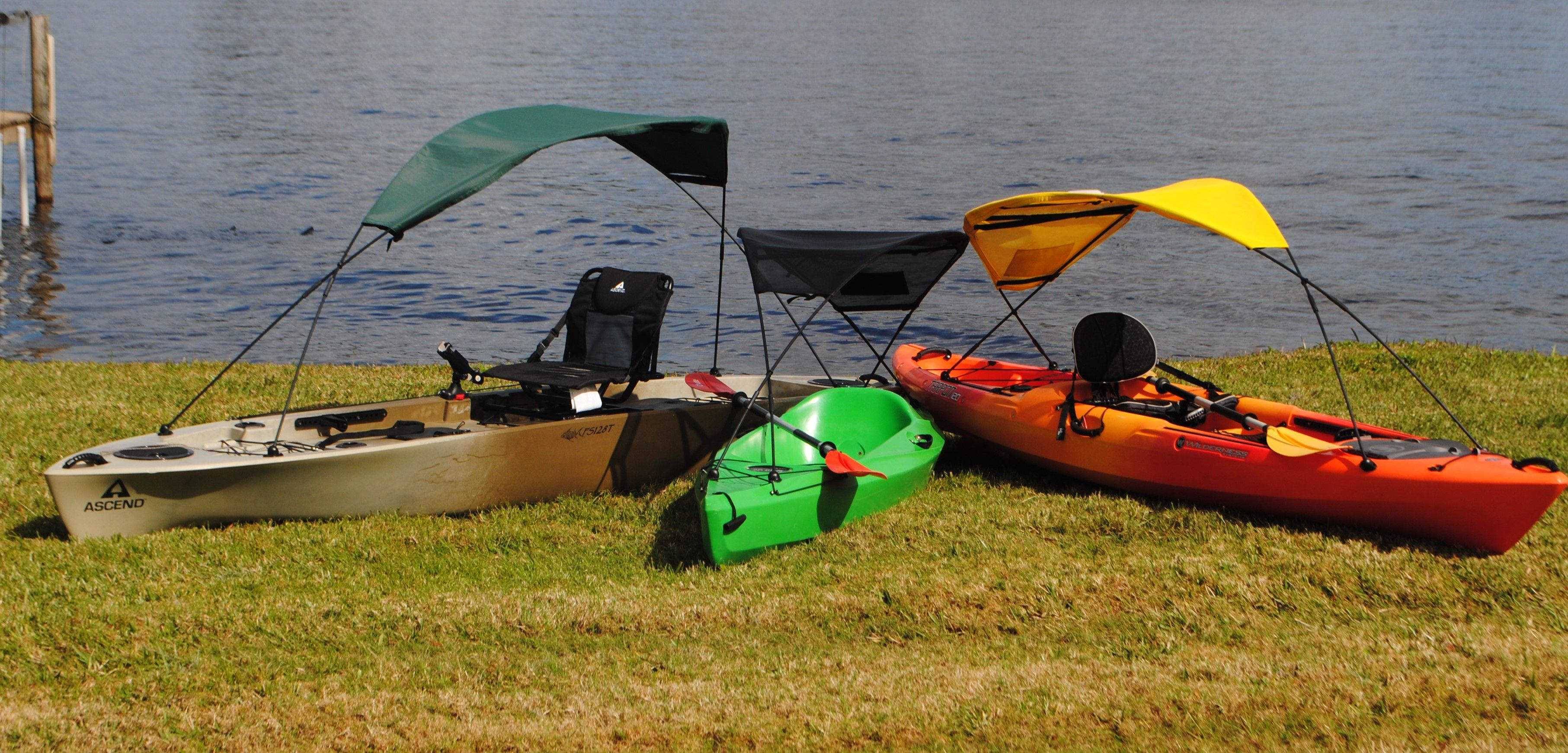 Get a canopy for kayak now! We are very excited...they are ready! Get your sun shade at www.adventurecanopies.com