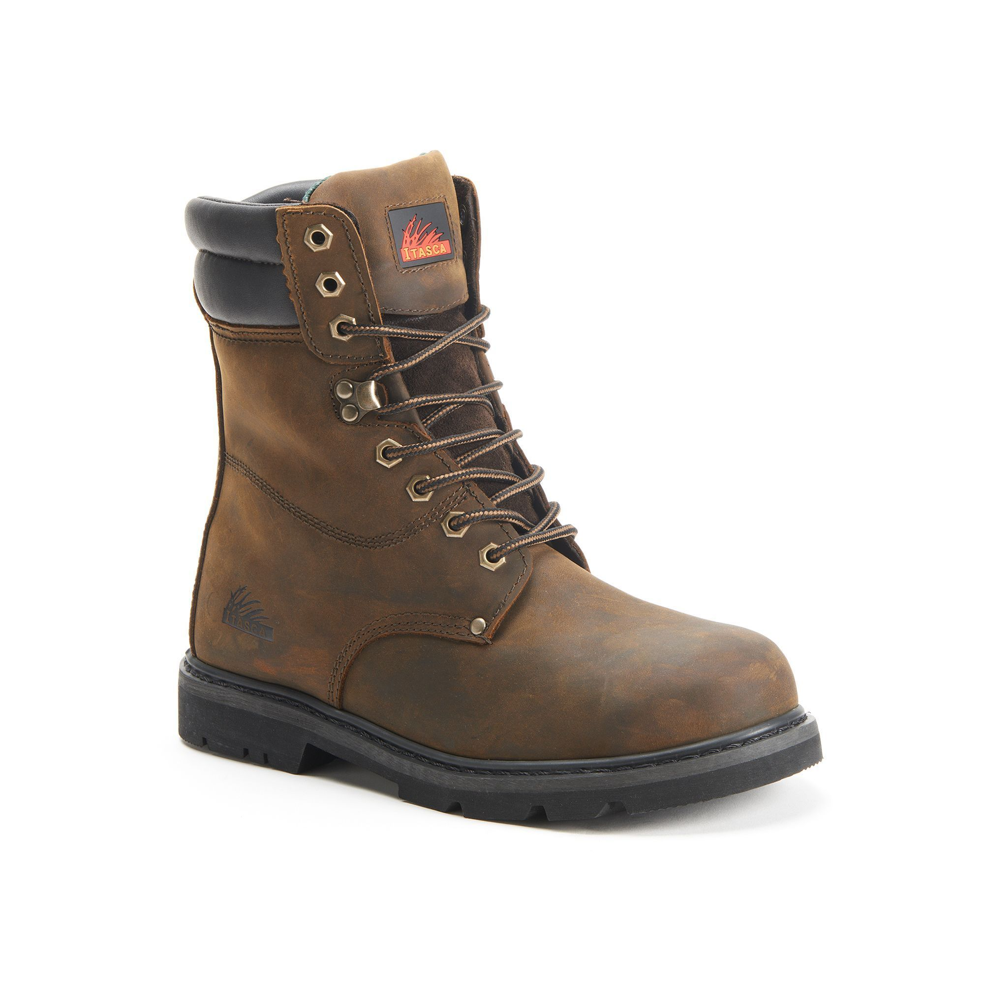 Itasca Force 10 Mens Steel Toe Work Boots Size 105 Brown