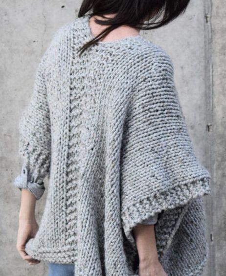 Free Knitting Pattern For Easy Telluride Kimono Knitting