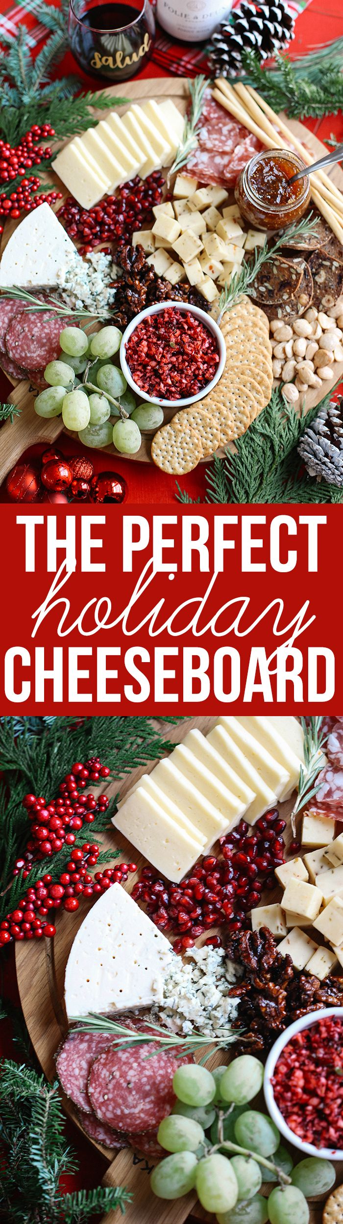 learn how to create the perfect holiday cheese board in just five simple steps with an assortment of cheeses fresh fruits and nuts with a variety of meats