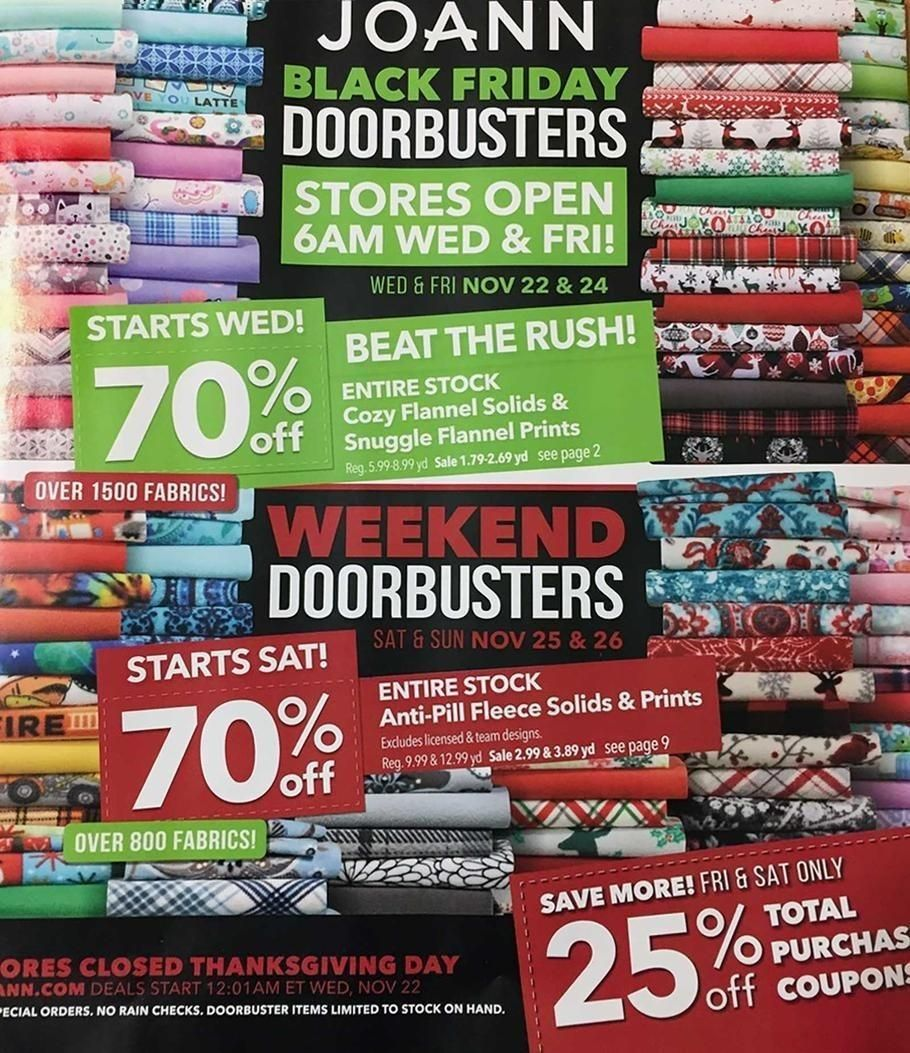 Jo Ann Fabric And Craft Stores 2019 Black Friday Ad Black Friday Ads Black Friday Joann