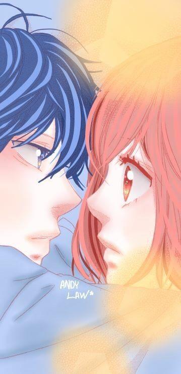 Image Via We Heart It Anime Animegirl Colored Couple Cutecouple Kawaii Ao Haru Ride Ao Haru Ride Kou Blue Springs Ride