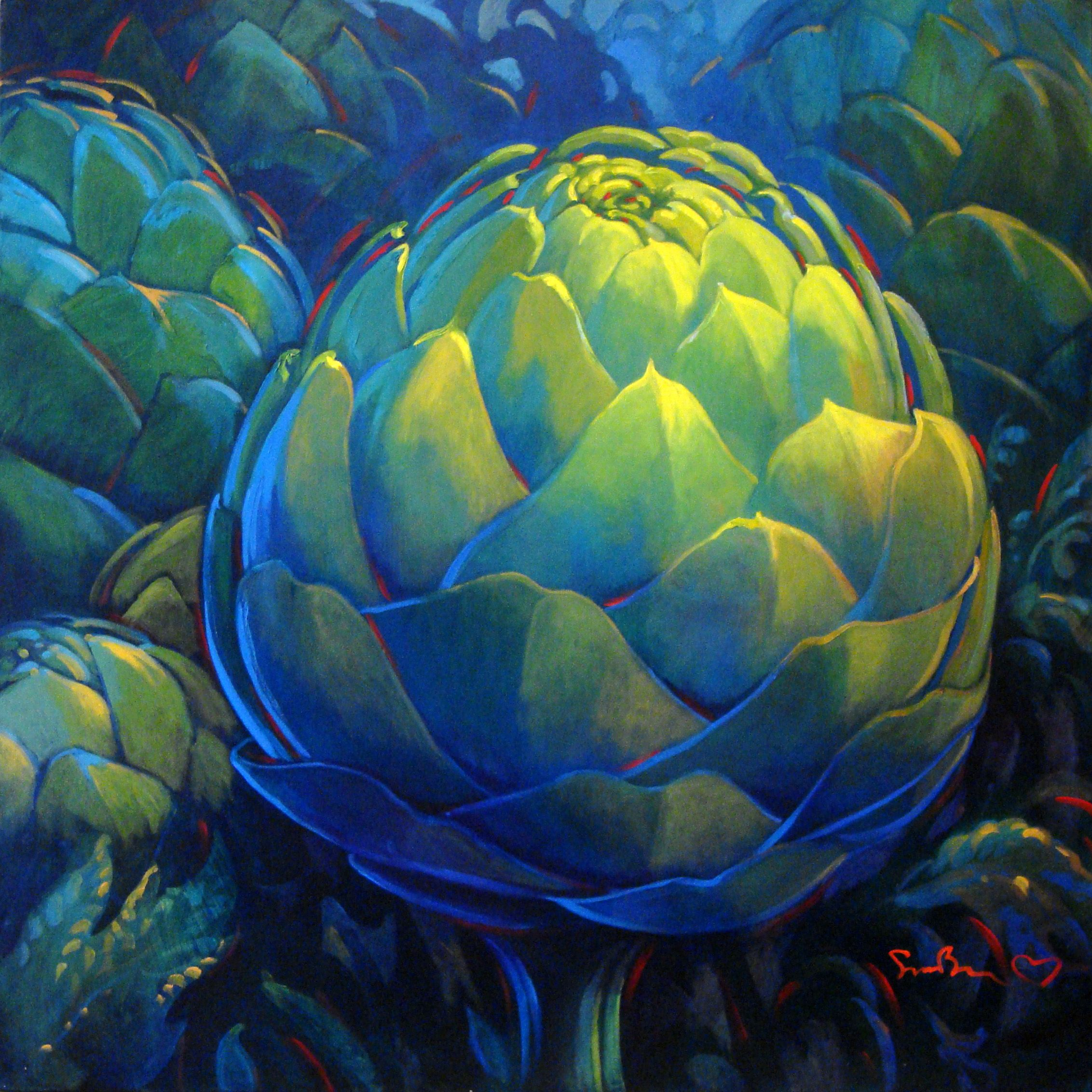 Emerald Opal by Meredith Howse. Paintings for Sale