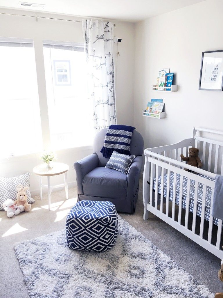 Baby B's Grey & White Nursery | White nursery furniture ...