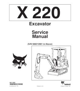 Best download bobcat x220 excavator service manual