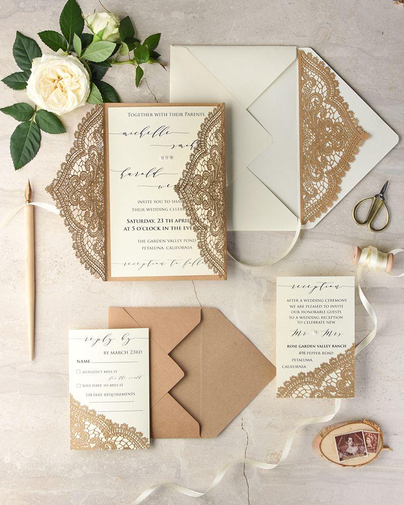 WEDDING INVITATIONS lasercut/engraved | Laser cut wedding ...