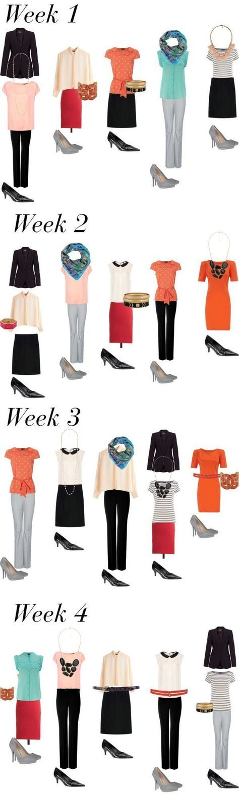 Business capsule wardrobe example