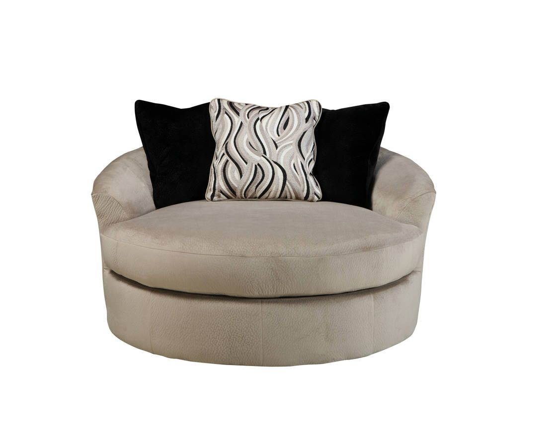 Heflin Contemporary Pebble Fabric Oversized Swivel Accent ...