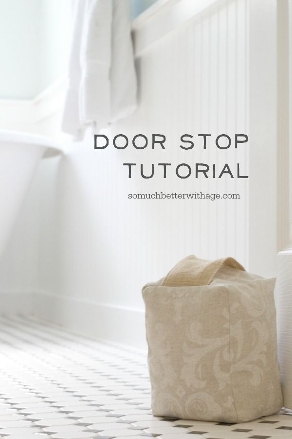 Door Stop Tutorial | DIY Projects & Tutorials | Sewing, Door stop, Doors