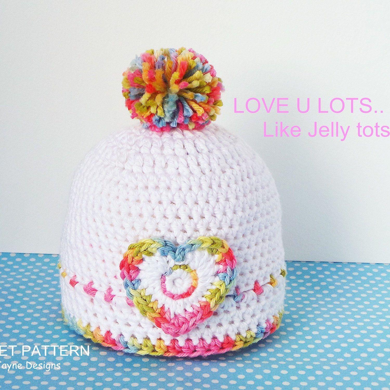 JELLY TOTS - Hat Crochet pattern - Crochet Baby Hat Pattern - 3 ...