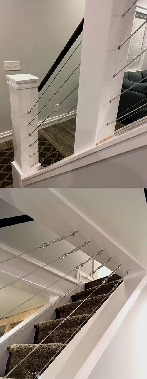 Built Low Cost Diy Cable Railing For Our Interior Stai | Cable Stair Railing Diy