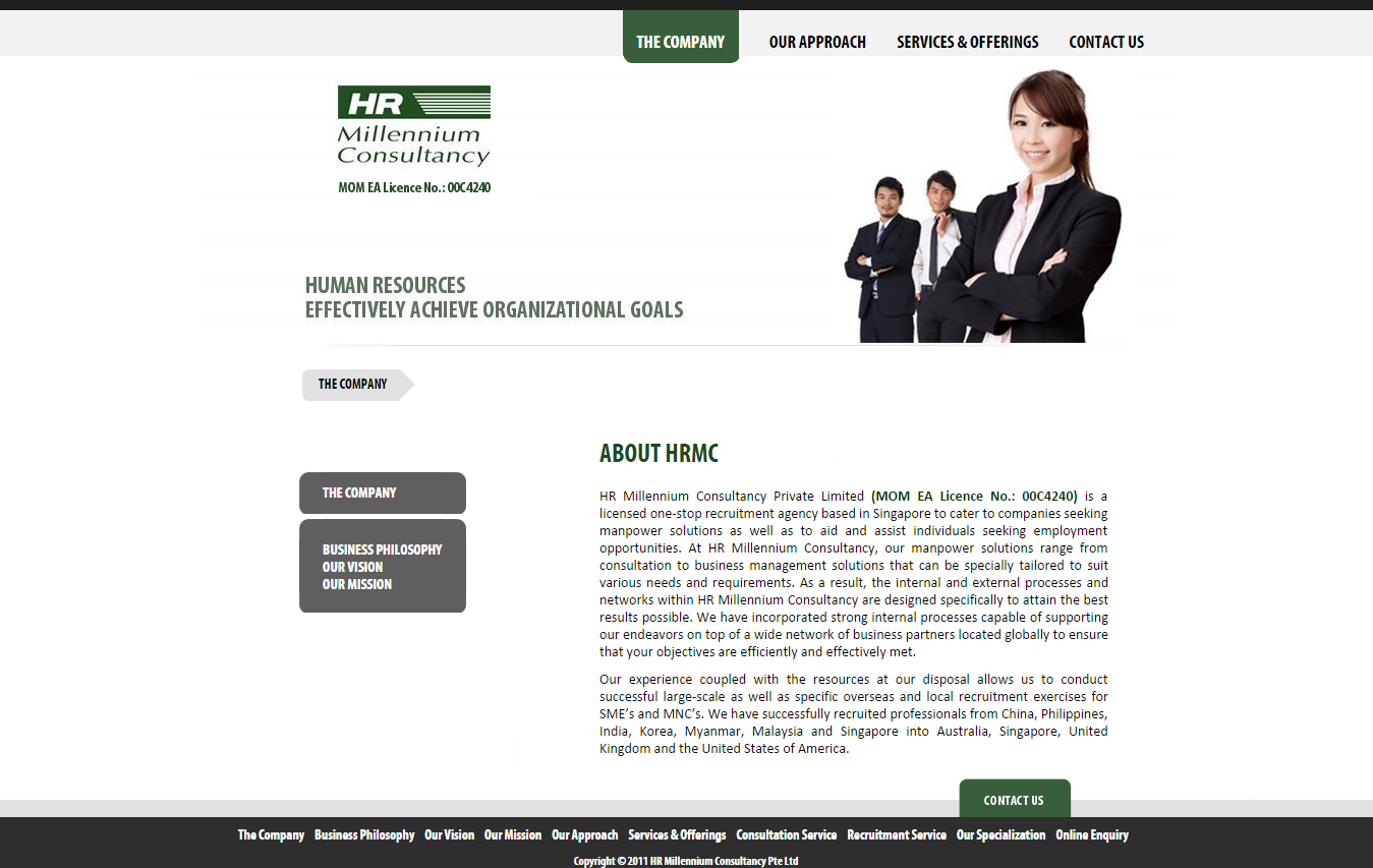 Nice Good Website Samples For Singapore Headhunter  Employment