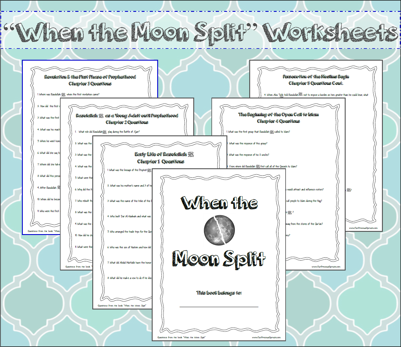 When The Moon Split Seerah Book Question Worksheets