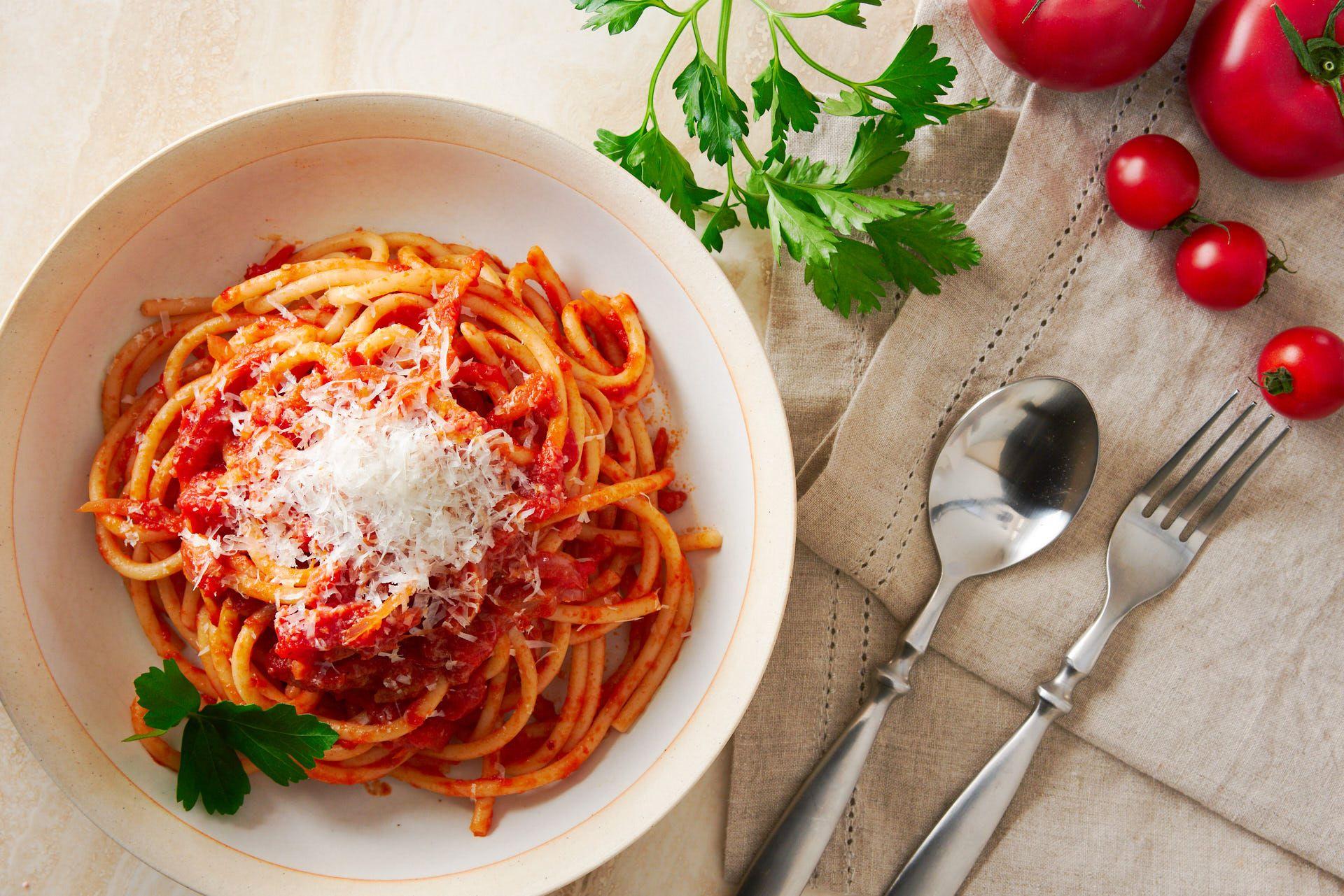 Bucatini allamatriciana recipe recipe amatriciana