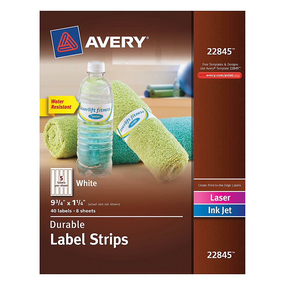 Avery® Permanent Durable Wraparound Labels, 22845, 9 3/4