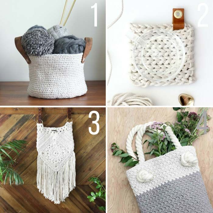 Crochet Tote Bag Free Pattern -- Modern + Classic Tote! | Cestas ...