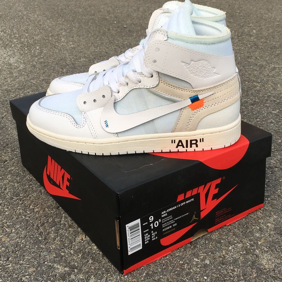 best sneakers ce4b3 58820 OFF-WHITE x Air Jordan 1 OW AQ0818-100 SIZE 40 to 47.5