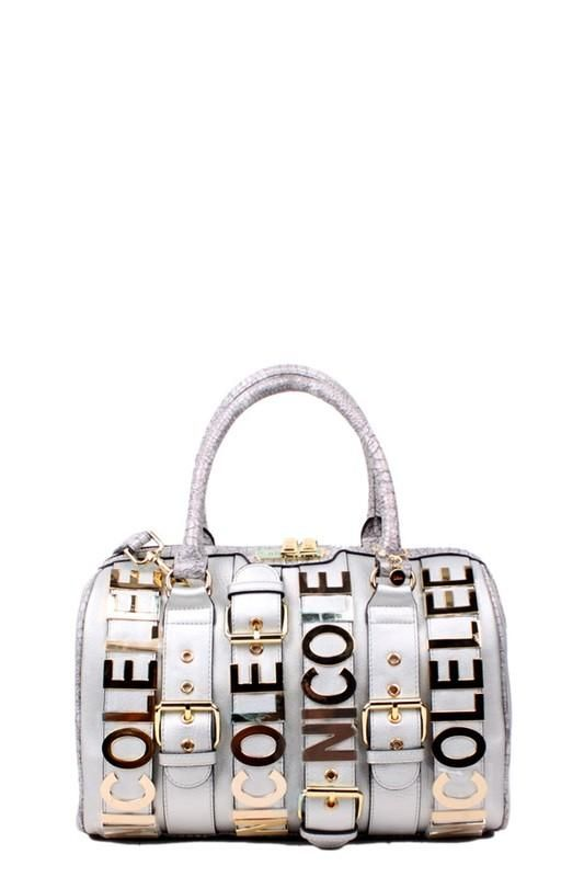 Nicole Lee Hilliard Belt Embellish Boston Bag  707c4135dfcc3