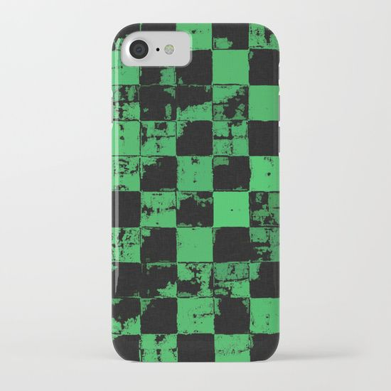 Grunge style, green tiles, squares, geometric pattern iPhone & iPod Case 20% Off + Free Worldwide Shipping on Phone Cases Today! Protect your iPhone 7 with a unique Society6 phone case featuring wrap around art designed by artists from around the world.  Our Slim Cases are constructed as a one-piece, impact resistant, flexible plastic hard case with an extremely slim profile. Simply snap the case onto your phone for solid protection and direct access to all device features.