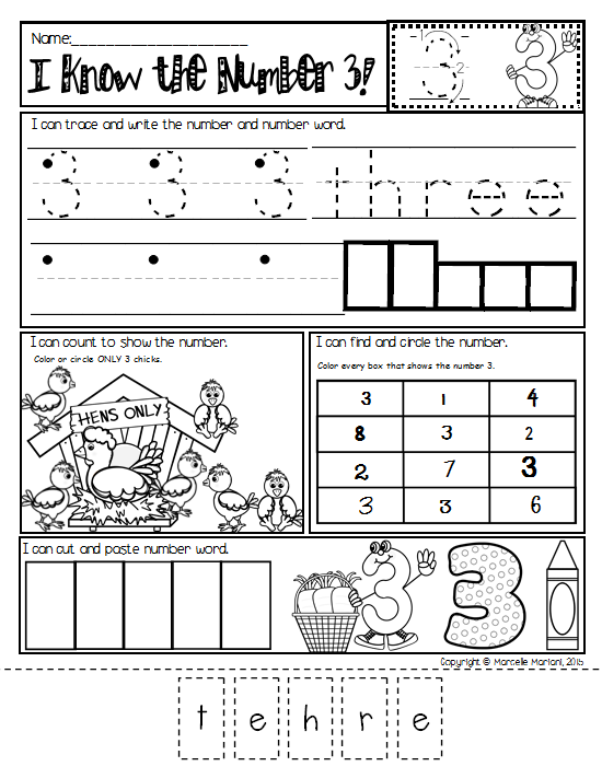 NUMBER WORKSHEETSDaily Math practice worksheetsNUMBERS 110 – Kindergarten Math Practice Worksheets