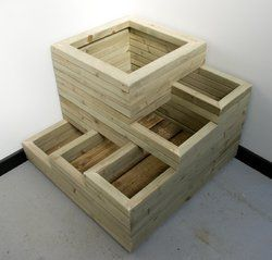 Multi Level Planter Good For Mixture Of Shallow And Deep Rooting Plants Wooden Planters Diy Planter Box Planter Boxes