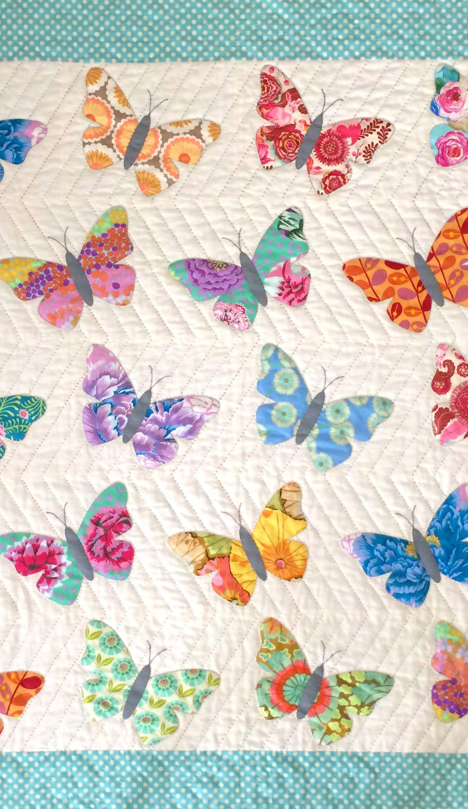Baby quilt pattern BUTTERFLIES by .blackmountainneedleworks.com ... : butterfly quilt designs - Adamdwight.com