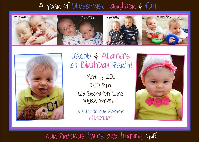 twin birthday invitation twins birthday idea pinterest twin