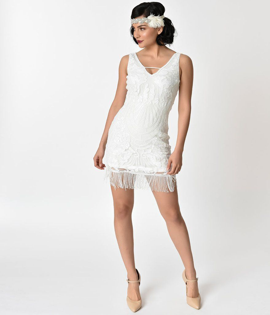 sparkly cocktail dress white