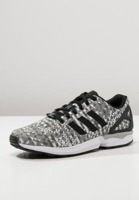 adidas Originals - ZX FLUX WEAVE - Sneakers laag - white/core black/solid