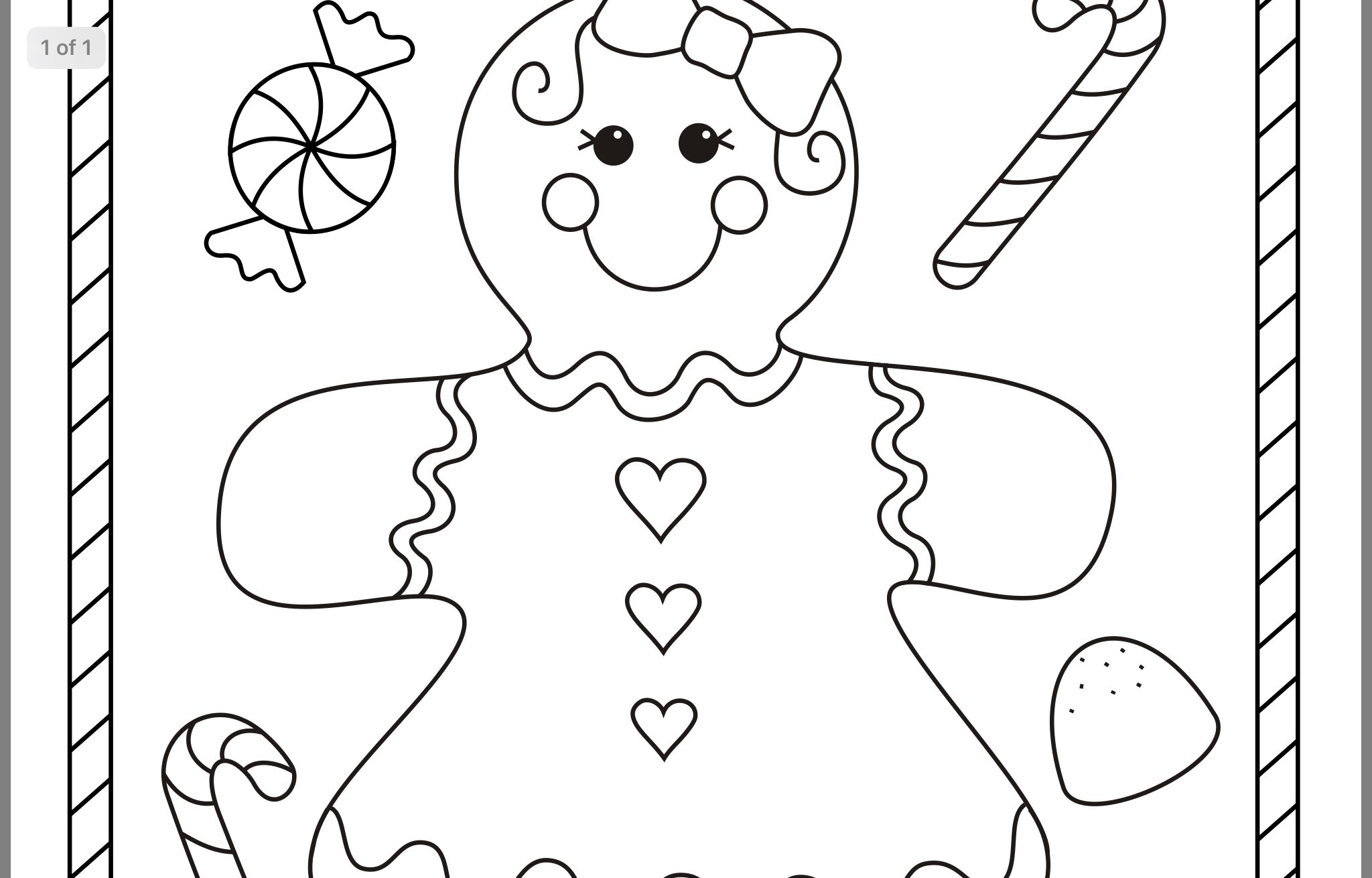 Smile Gingerbread Boy Coloring Pages Coloring pages for