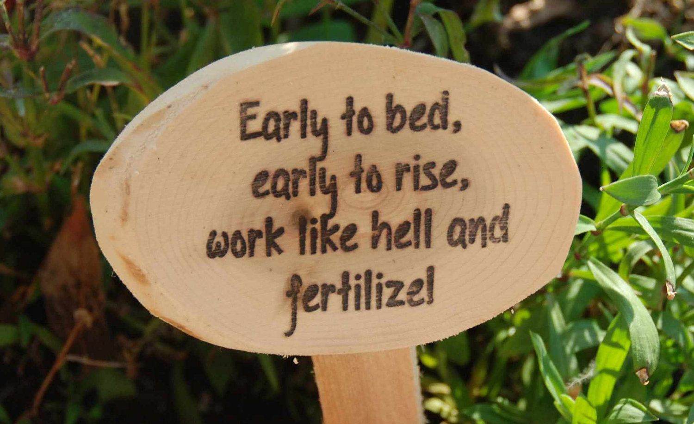 Humorous Garden Signs