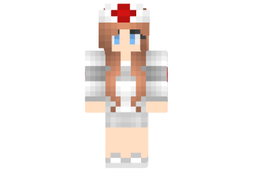 скин девушки медсестры для майнкрафт #10