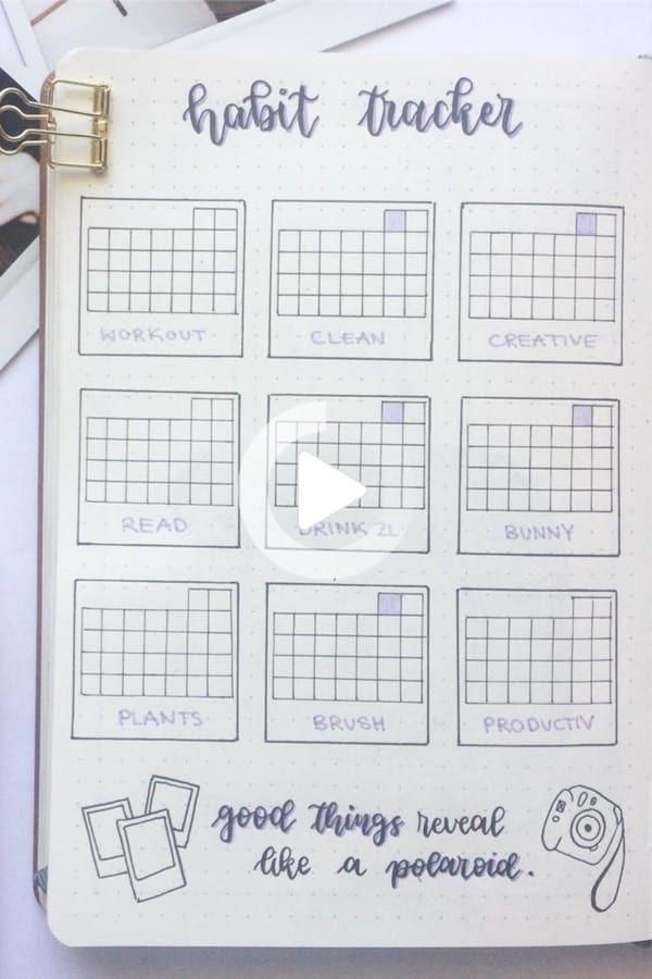 Best June Habit Tracker Spreads To Be Productive In 2019 - Crazy Laura