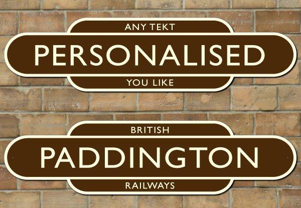 Train Station Signs Railway station totem sign | Sandbar | Train
